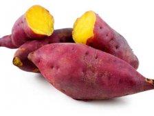 Плод батата с желтой мякотью