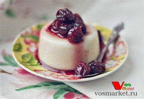 Фото десерта панакота с манкой