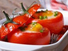 Главное фото рецепта Яичница в помидорах