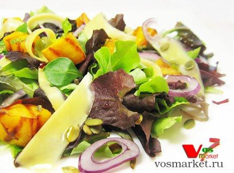 Фото готового блюда: Салат с тыквой-гриль