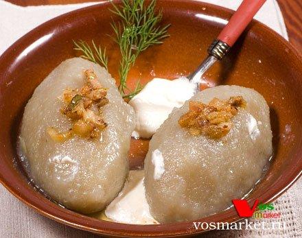 Цеппелины - блюдо из картофеля