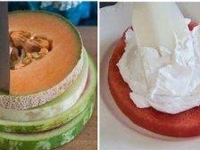 Фото к блюде Торт из арбуза и дыни