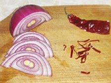 Фото приготовления Салат с тыквой-гриль