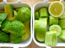 Фото к блюде Огуречный суп с авокадо