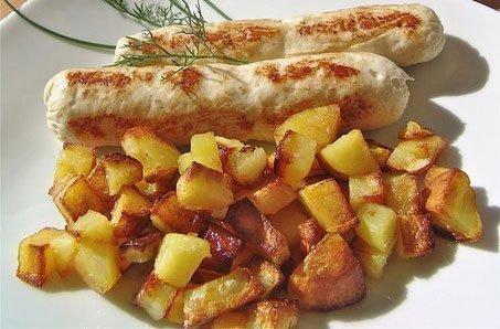 Фото готового блюда: Домашние сосиски