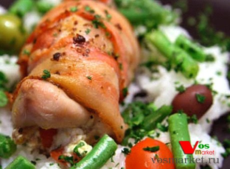 Фото готового блюда: Перепела в беконе