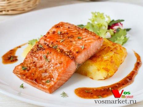 Фото готового блюда: Лосось в медовом соусе