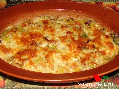 Фото готового блюда: Лук-порей под сыром