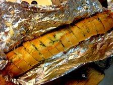 Фото приготовления Багет с сыром на мангале