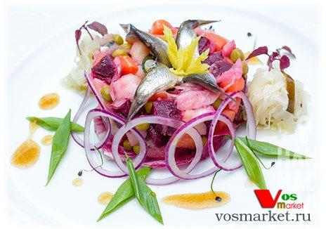 Фото готового блюда: Винегрет с тюлькой