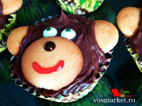 Фото готового блюда: Кексы 'Мартышка'