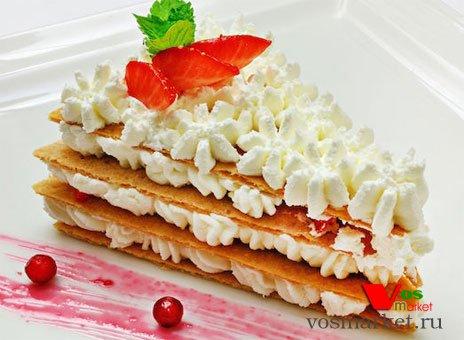 Фото готового блюда: Французский торт 'Мильфей'