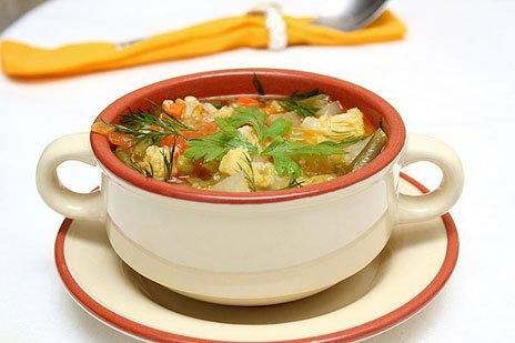 Фото готового блюда: Постный суп с овощами