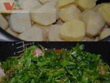 Фото к шестому шагу приуготовлению рецепта Штрудель с картошкой