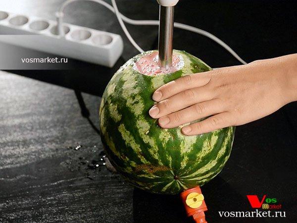 как сделать коктейль из арбуза с помощью блендера
