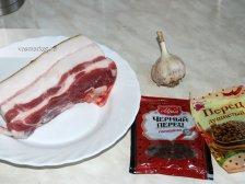 Фото к блюде Сало варёное