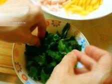 Фото приготовления Салат с ветчиной и сыром