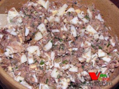 Рыбная начинка для лаваша