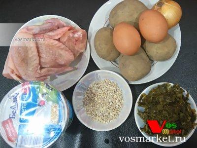 Ингредиенты для приготовления супа из щавеля с яцом