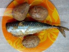 Фото к десятому шагу приуготовлению рецепта Скумбрия в духовке
