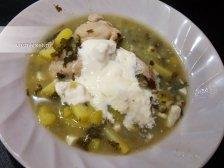 Фото к седмому шагу приуготовлению рецепта Щавелевый суп