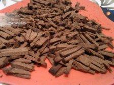 Фото приготовления Салат с говяжьей печению
