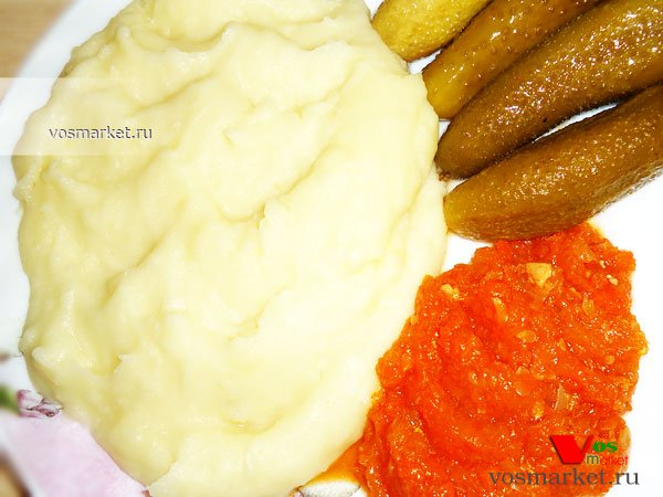 Фото готового блюда: Картофельное пюре с молоком