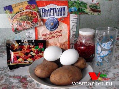 Ингредиенты для приготовления вареников из картошки