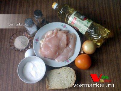 Ингредиенты для куриных котлет в духовке