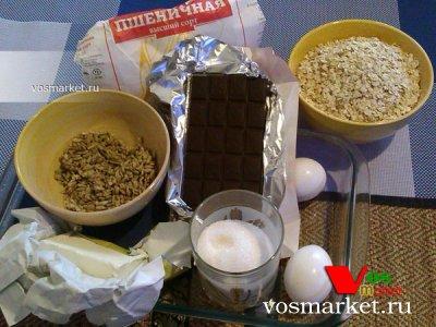 Ингредиенты для рецепта овсяного печенья