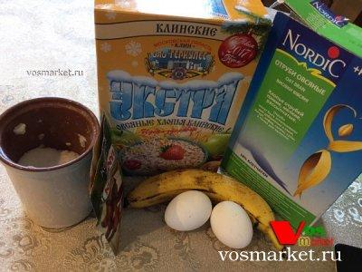 Ингредиенты для рецепта банановый пирог