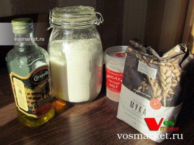 Ингредиенты для выпечки домашнего лаваша