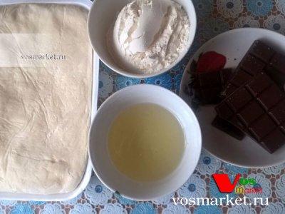 Ингредиенты для рецепта: печенье с шоколадной начинкой