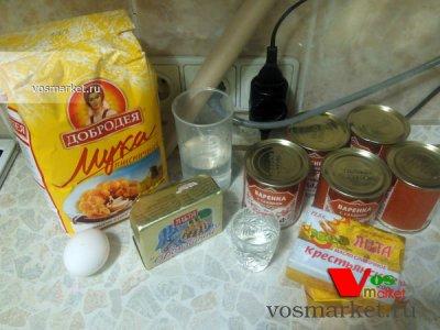 Ингредиенты для домашнего торта Наполеон