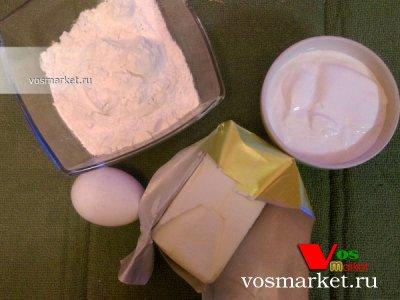 Ингредиенты для приготовления слоеного теста в домашних условиях
