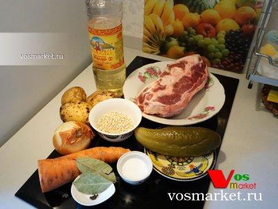 Ингредиенты для приготовления супа рассольник