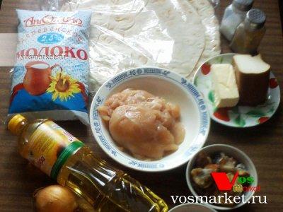 Ингредиенты для приготовления домашней лазаньи