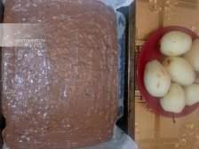 Фото к пятому шагу приуготовлению рецепта Пирог с грушей