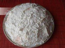 Фото к восьмому шагу приуготовлению рецепта Салат 'Мимоза' с консервами