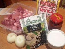 Фото приготовления Гуляш из свинины