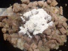 Фото к пятому шагу приуготовлению рецепта Гуляш из свинины