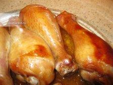 Фото к девятому шагу приуготовлению рецепта Куриный голень в духовке