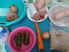 Фото к блюде Солянка сборная с колбасой