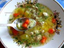 Фото к десятому шагу приуготовлению рецепта Куриный суп для детей