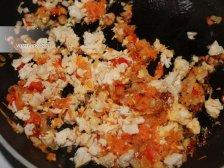 Фото к шестому шагу приуготовлению рецепта Макароны с куриной филе