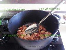 Фото к третьему шагу приуготовлению рецепта Свинина в лаваше