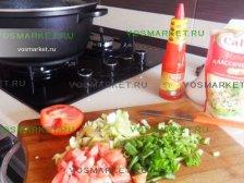 Фото к четвертому шагу приуготовлению рецепта Свинина в лаваше