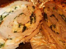 Фото к десятому шагу приуготовлению рецепта Рулет из свинины в духовке