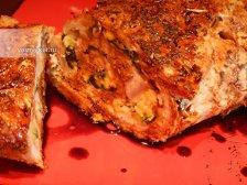 Фото к одиннадцатому шагу приготовлению рецепта Рулет из свинины в духовке