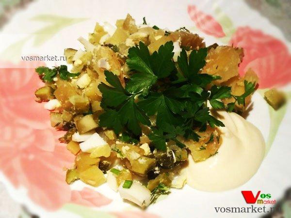 Фото готового блюда: Салат с соленых огурцов